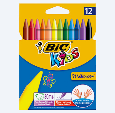 BIC KIDS PLASTIDECOR CBW 12